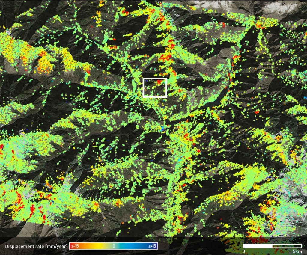 InSAR analysis over the Maoxian county