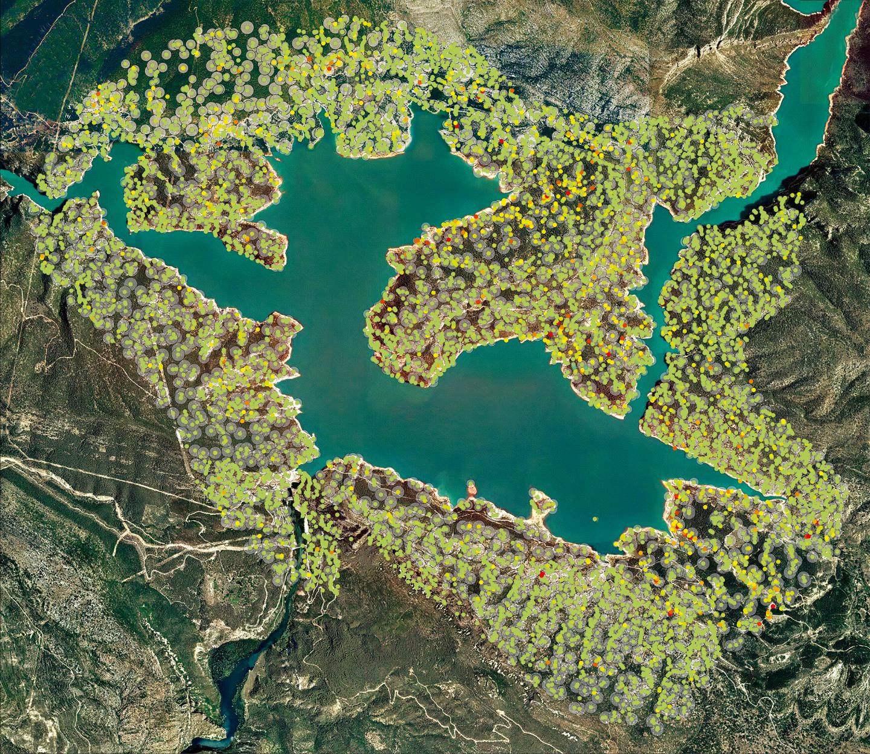 cannelles reservoir InSAR