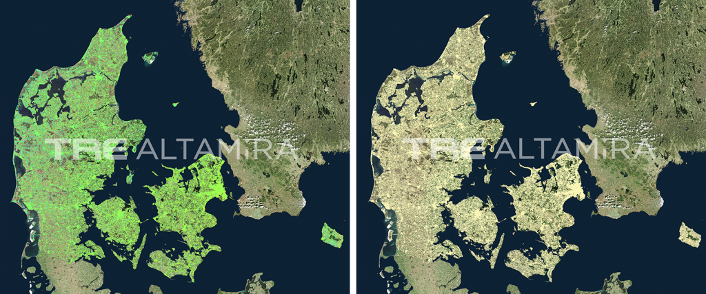 InSAR vertical and horizontal maps over Denmark