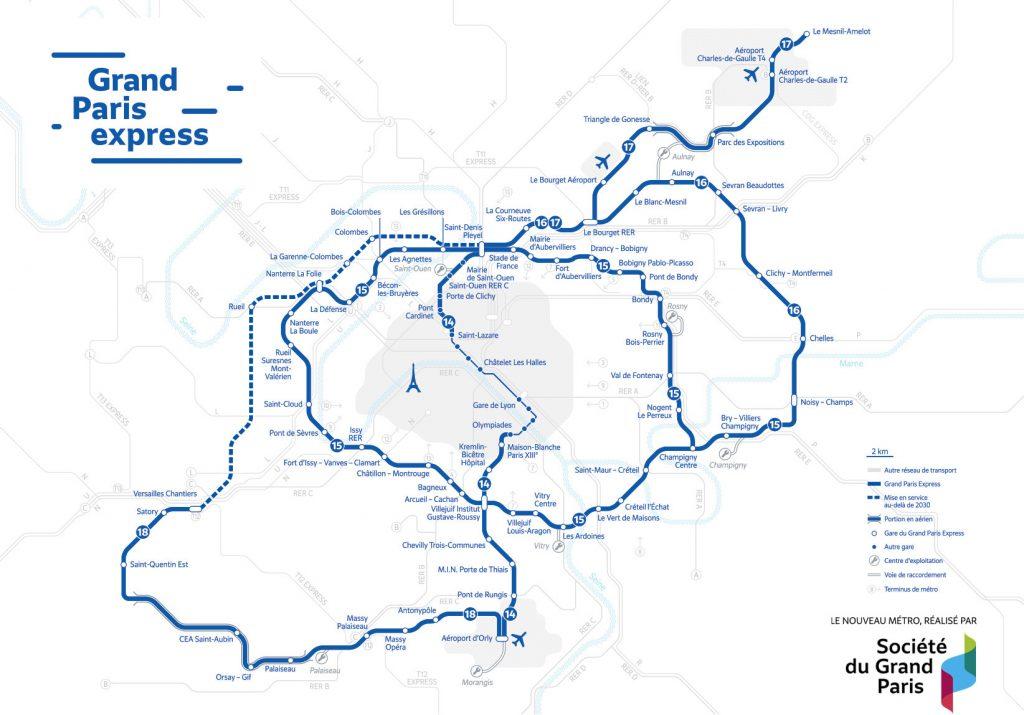 Gran Paris map
