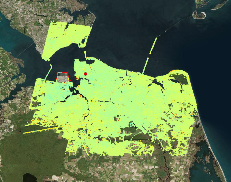 InSAR study over Hampton Roads