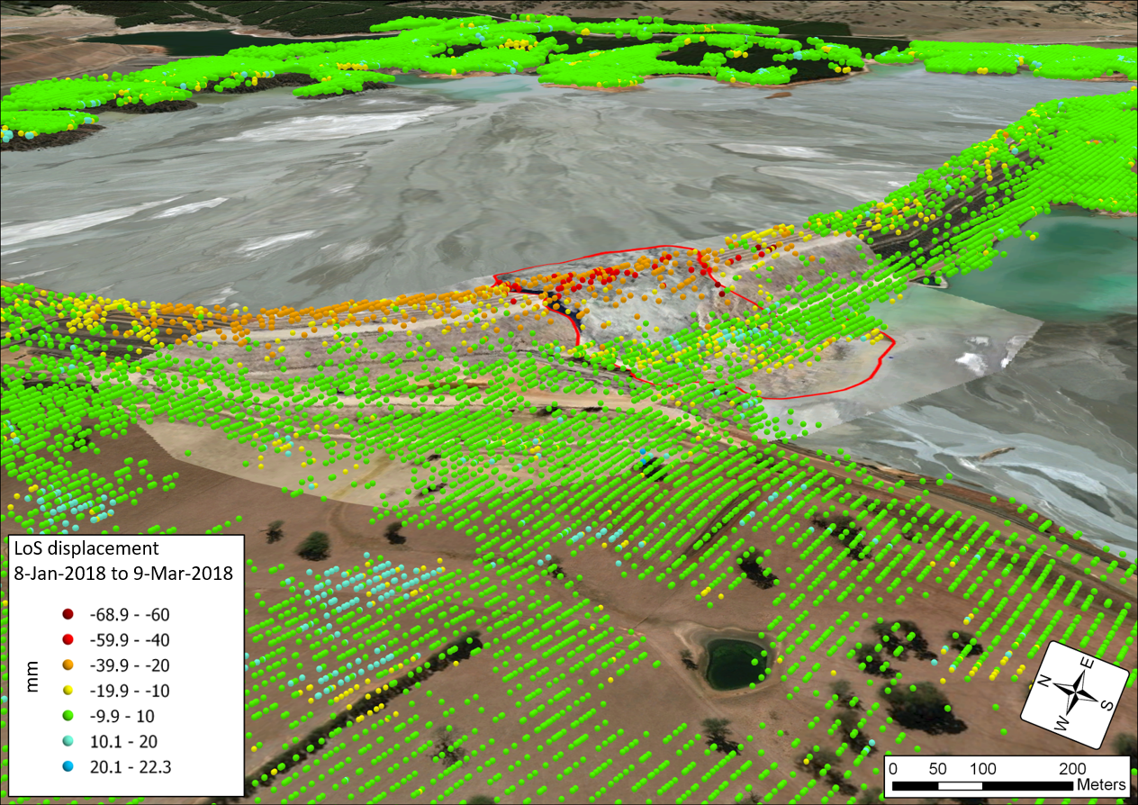 InSAR study for tailings dam collapse analysis