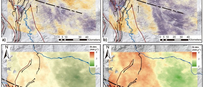InSAR ground deformation maps #Néuquen-Basin