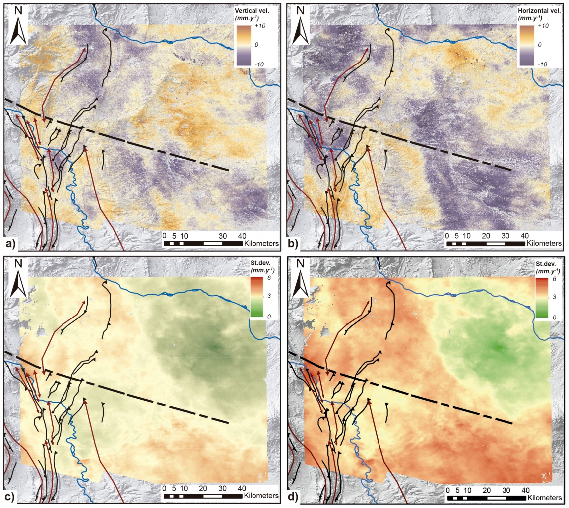 InSAR ground deformation maps #Néuquen-Basin
