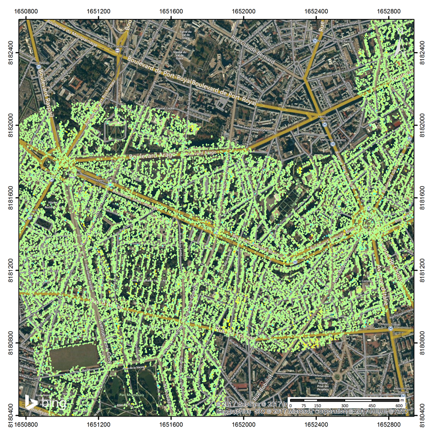 RATP aereal network by InSAR monitoring