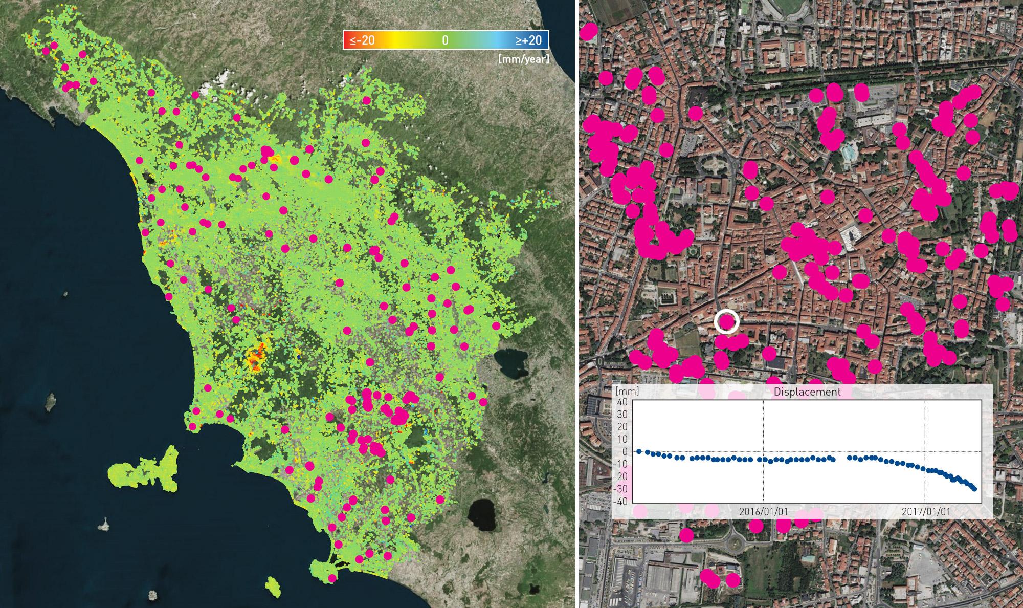Regional InSAR monitoring - Toscana
