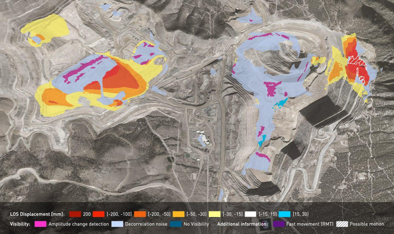 InSAR Bulletin over a mine site