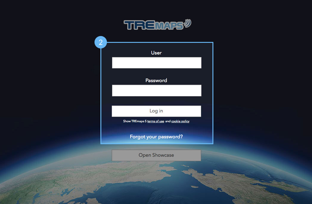 TREmaps - Login