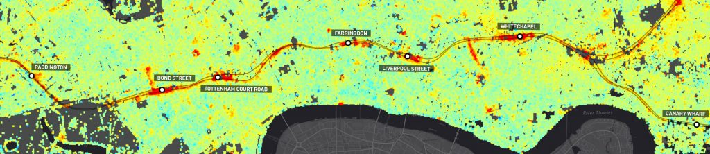 Snapshot from London InSAR motion map