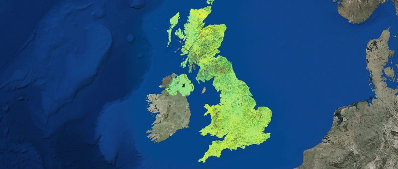 UK InSAR motion map