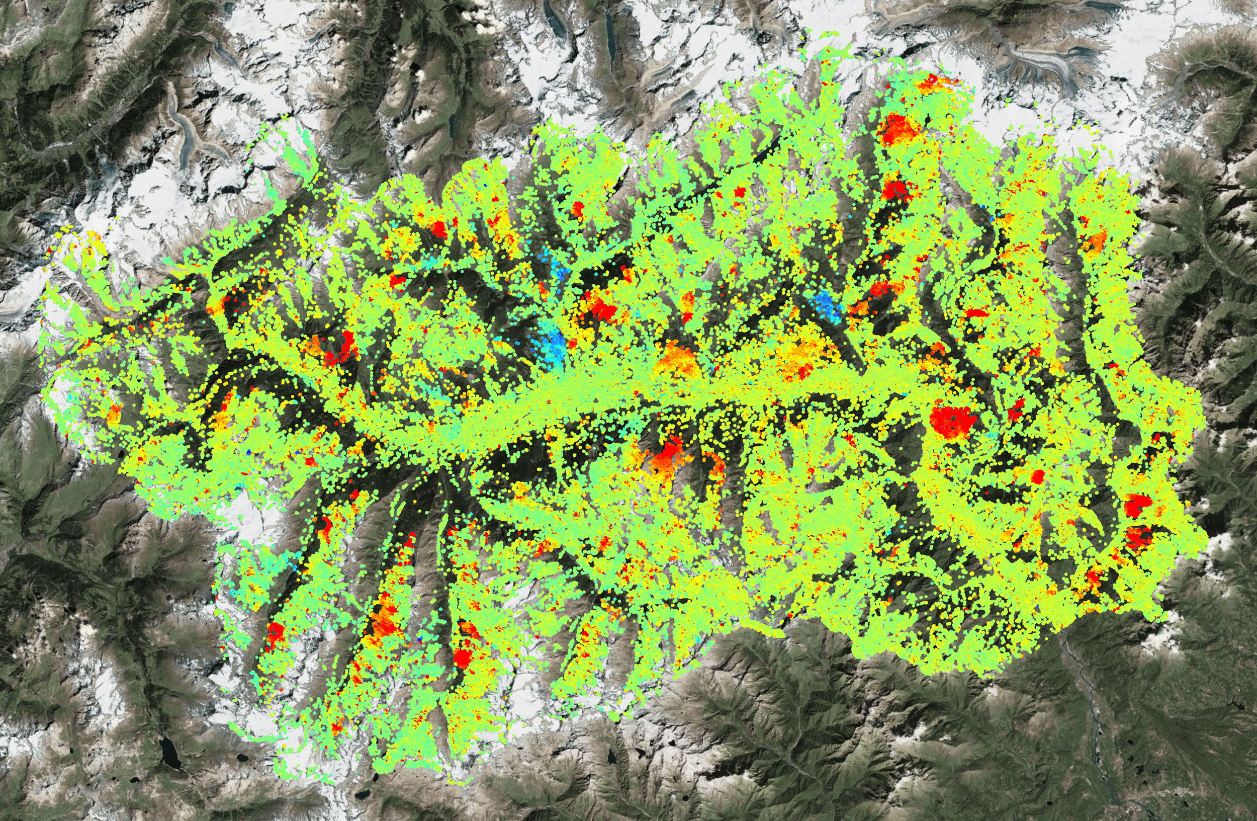 InSAR motion map #Regione Valle d'Aosta