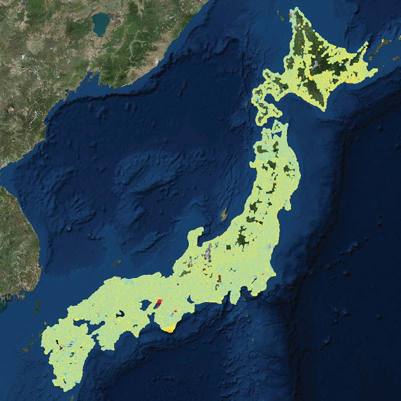 Wide area monitoring - JAPAN